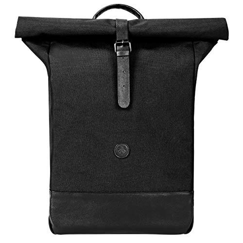 Rolltop Rucksack Damen & Herren - Keine Risse Dank Anti Riss Garantie - Aus recyceltem Plastik - Tagesrucksack für die Uni, zum Wandern oder die Arbeit