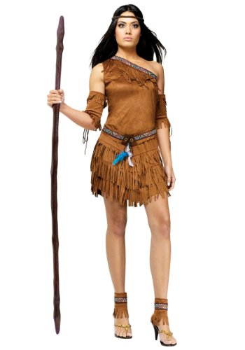 Sexy Pow Wow Indian Fancy Dress Costume Medium/Large