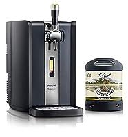 La machine est fournie avec un fût de 6L de bière blonde belge Tripel Karmeliet à 8° Cette tireuse à bière PerfectDraft est très simple à utiliser et propose différentes fonctionnalités comme un écran indicateur, un robinet de type professionnel et u...