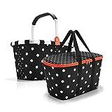 Reisenthel carrybag Mixed dots und coolerbag Mixed dots im Set - schwarz gepunktet