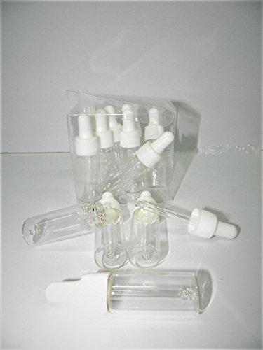 12 X Flacon 14ml verre avec compte gouttes bouchon compte gouttes pipette