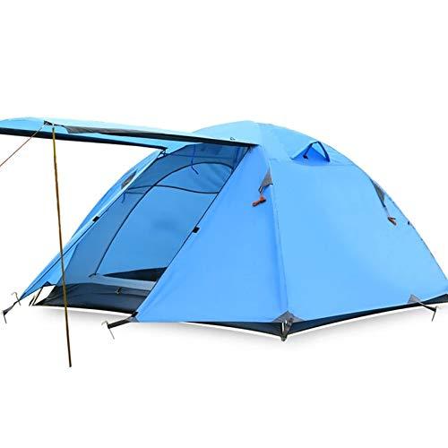 XuZeLii Carpa 3 Personas Polos de Aluminio Doble Capa Camping Tienda de Playa Carpa Ideal para Viajes De Fin De Semana (Color : Sky Blue, Size : 200x180x120cm)