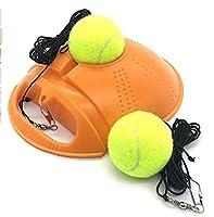 テニストレーナーリバウンドベースボードテニスボール、セルフテニストレーニングツールボールバックトレーニングギアセルフテニスポータブルエクササイズベースボード、初心者に最適 オレンジ