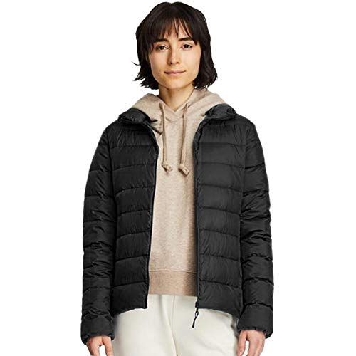 Yaloo Women's Packable Down Jacket, Water-Resistant Lightweight Puffer Down Coats with 3D Slim Fit Design L Black
