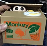 'Resulzon Stealing Coin Monkey Box – Piggy Bank – Monkey – English Speaking – Great Gift for Any Child ' (Box image may vary)