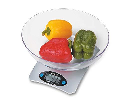 HAEGER SANTINI - Báscula de Cocina de Alta Precisión con Bol medidor de cristal y LCD táctil