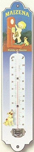 Thermometre Deco Metal PUB Ancienne MAIZENA