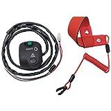 Handlebar Start Stop Kill Switch Box Aassy & Safety Lanyard for Yamaha FX140 FX1000 WaveRunner/WaveVenture 700 XL700 WaveRunner 800 GP800 1100 VX110/VX/V1 VX1100 1300 GP1300 1800 VXR/VXS VX1800