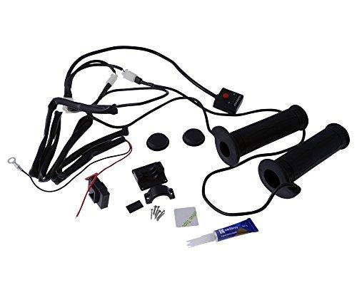 KOSO Heizgriffe offenes Ende für ATV mit 22 mm Lenker, elektronischer Schalter mit 5 Stufen.