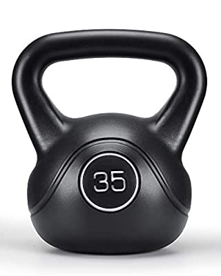 MaxKare 35lbs Kettlebell with HDPE Handle Workout Equipment Professional Olympic core Strength Training Weightlift Fitness Home Gym by MaxKare