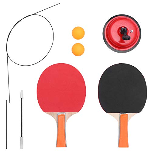 Great Price! TOYANDONA Table Tennis Trainer Elastic Shaft Equipment Movable Ping Pong Balls Paddles ...
