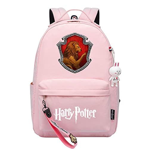 MMZ Mochila de Harry Potter Mochila de libro con insignia de impresión 3d Mochila retro para paquete de estudiantes de 8 ~ 16 años (#9)