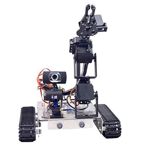 Batop Programmierbar Robot für Raspberry Pi, Panzer Smart Robot Car Kit mit Arm, WiFi, Bluetooth Modul, HD Kamera und Line Tracking Modul - Kompatibel mit Raspberry Pi 4