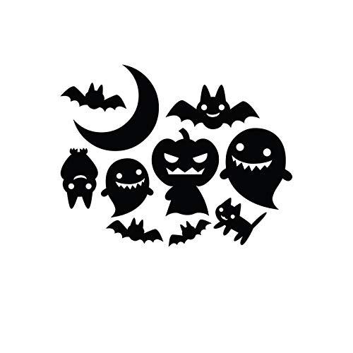 OLUYNG Halloween Car Vinyl Decal Stickers Home Window Door Decor, Cat Bat...