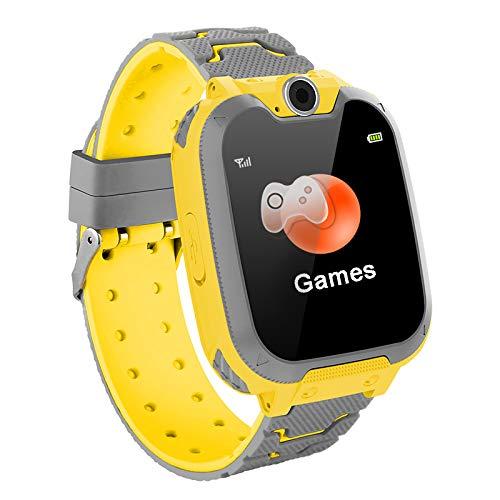 Smartwatch Bambini, Smartwatch Impermeabile per Bambini con Touchscreen Anti-smarrimento SOS, Sveglia SIM Card Gioco Smartwatch per 3-12 Anni Regalo di Compleanno Ragazzi Ragazze