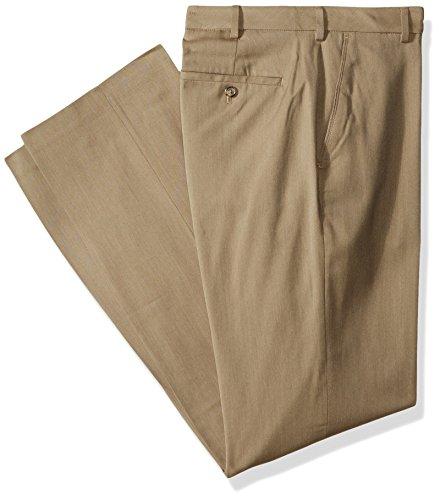 Van Heusen Men's Big and Tall Air Straight Fit Flat Front Dress Pant, khaki, 48W X 29L