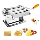 Máquina manual de massa para massa em aço inoxidável MUPAI 6 Espessura ajustável para tagliatelle / espaguete / lasanha / ravióli