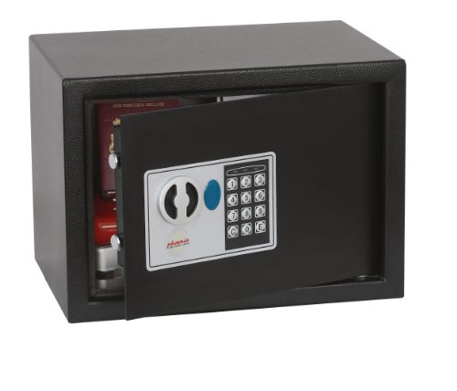 Phoenix Safe Company SS0802E Phoenix Vela SS0802E-Cassaforte di Sicurezza con Serratura Elettronica, Misura 2, Grafite Metallica, S