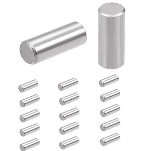 15 Pcs M8x20mm Dowel Pin 304 Stainless Steel Shelf Support Pin Fasten Elements,304 Stainless Steel Cylindrical Pin Locating Dowel Support