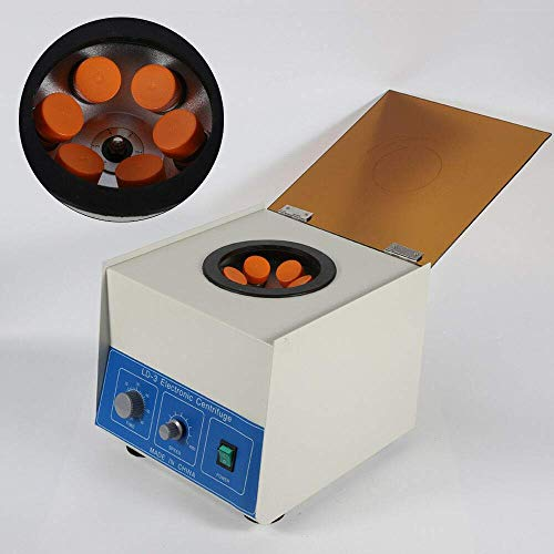 LD-3 Electric Lab Benchtop Centrifuge, Laboratory Practice Centrifuge Machine, Large Capacity 6x50ml, High Speed 4000RPM, with Timer 0-60min (US Stock)