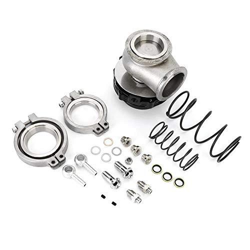 Turbocompressore Wastegate, 1,7 pollici Turbocompressore universale Valvola di scarico Kit Wastegate esterno Nero, Accessorio modificato per auto