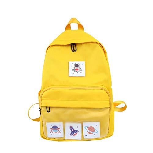 HYJ Preppy Style Junior High School Taschen für Mädchen Teenager Schüler Schule Rucksack Frauen Tasche Schule Fresh Campus Teen Bookbags, gelb