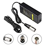 44V Charger for 36V 1.5A Battery Razor MX500 MX650, GT GT750, Izip I600 I750 I1000 Mongoose M750 Electric Scooter with 3-Pin Male XLR Connector