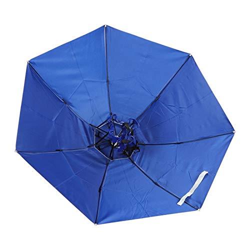 Qqmora Sombrero de Paraguas de Pesca Respirable Sombrero de Paraguas Respirable Plegable, Pesca(#1)