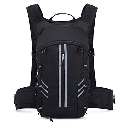 MH-RING 20L Lightweight Running Backpack, Cycling Rucksack Waterproof Womens and Mens, Travel Daypacks for Biking and Mountaineering Camping (Color : Black)