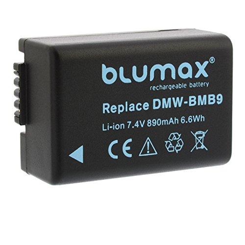 blumax Batería Panasonic DMW-BMB9 / DMW-BMB9E 890mAh|Adaptado para Panasonic Lumix DMC-FZ40-FZ45-FZ47-FZ48-FZ60-FZ62-FZ70-FZ72-FZ100-FZ150 Leica V-Lux 2/3