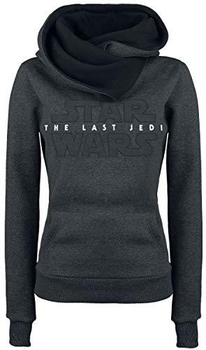 STAR WARS Sudadera con Capucha The Last Jedi Logo Satari Hooded Grey