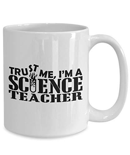 Regalo para profesor de ciencia, regalo para profesor de biología, regalo de laboratorio científico taza de té/calcomanía divertida taza
