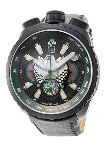 Bomberg Herren-Armbanduhr Bolt-68 Falcon Limited Edition Chronograph Datum Analog Automatik BS47CHAPBA.025-3.3