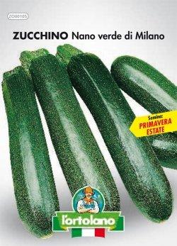 Sementi orticole di qualità l'ortolano in busta termosaldata (160 varietà) (ZUCCHINO NANO VERDE DI MILANO)