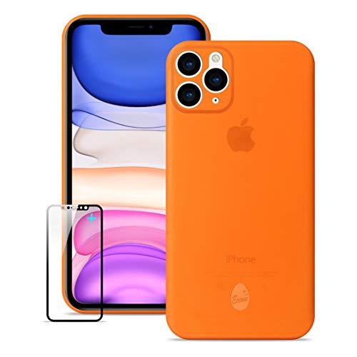 Funda iPhone 11 Pro Max , Ultra Delgada y Ligera Totalmente Envuelta ,Funda Delgada iphone 11 Pro Max, Funda iPhone con Pantalla de Cristal Templado Gratis Protector [NO LOGO en la carcasa del móvil]