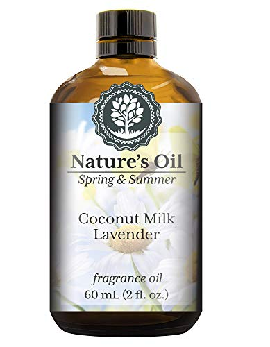 Coconut Milk Lavender Fragrance Oil (60ml) For Diffusers, Soap Making, Candles, Lotion, Home Scents, Linen Spray, Bath Bombs, Slime