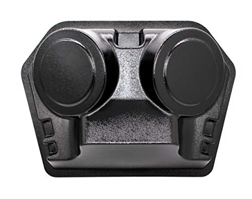 Speaker and Radio Overhead Console Housing Compatible with Golf Cart, UTV, Polaris RZR, Boat, Marine (Empty Console with Double Sided Tape)