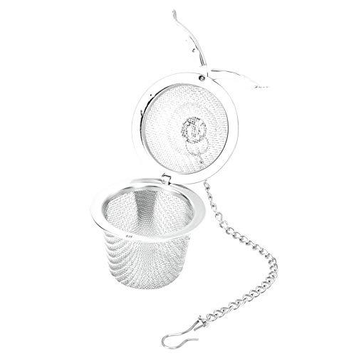 Accesorios para té Filtro de té, limpiador de cadena seguro de acero inoxidable inodoro Bolas de té Infusor de té, té casero(Medium)