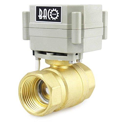 """BACOENG 1"""" DN25 Válvula Motorizada de Esfera de 2 Vías de Latón de AC110/230V CR202 NC"""