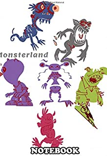 Notebook: Monsterland , Journal for Writing, College Ruled Size 6