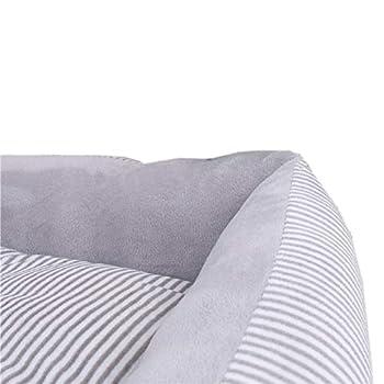 DWCA Doux Rectangulaire Coussin pour Chien, Respirant Chaud Canapé pour Chien Matelas Double Face Tapis pour Chien Différentes Tailles-Gris XXL(90x70x15cm)