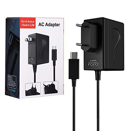 AC Adapter Ladegerät für Nintendo Switch und Switch Lite, Shumeifang Typ-C PD Netzteil Ladegerät 15V/2.6A Schnellladung, für Switch Dock