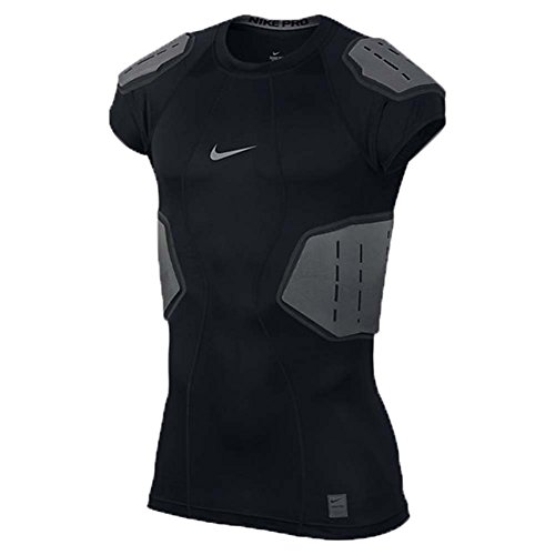Men's Nike Pro Hyperstrong Football Top Black/Anthracite/Dark Grey/Flint Grey Size Large