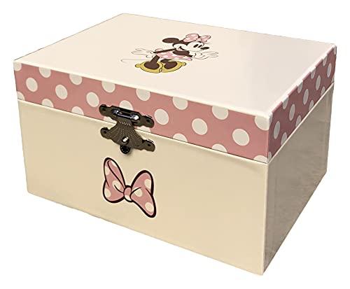 Joyero musical baúl Minnie Disney de cartón CARILLON - WD20323