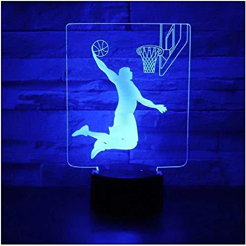 Lámpara de oso Luna 3D Ilusión Holograma Visual LED Luces nocturnas Toque Usb Mesa Lampara Bebé durmiendo 7 Cambio de color Luz nocturna