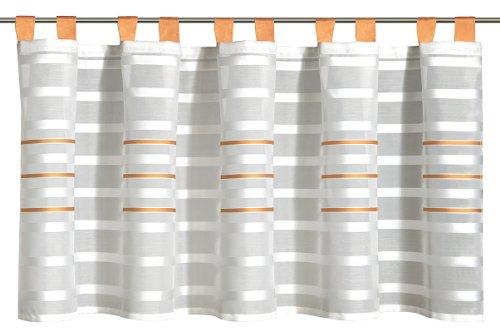 Albani Willkommen Zuhause Linea, Schlaufenpanneaux aus Scherlistore, Zimt, 50 x 140 cm, 256006