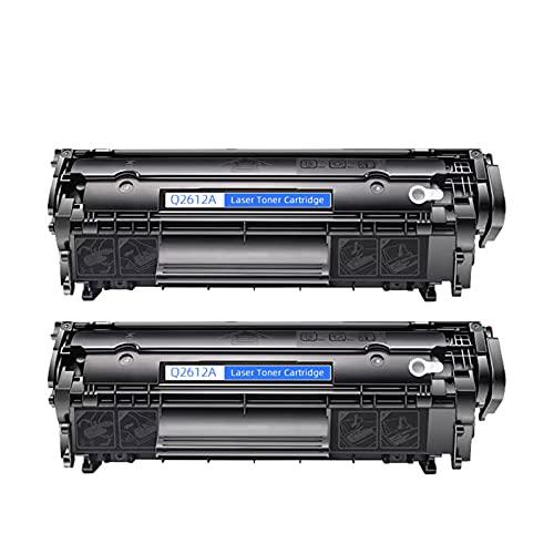 AZXZ Adecuado para HP HP 3052 3055 M1300 M1319 MFP 2612A Cartucho de tóner de la Impresora 2900 2-Black