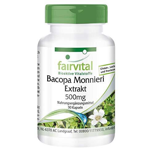 Extrait de Bacopa Monnieri 500mg (Brahmi) - 90 gélules véganes