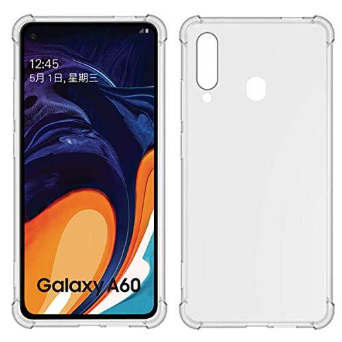 TIYA Funda para Samsung Galaxy A60 y M40 Carcasa Bumper,Shock-Absorción TPU Transparente con Cuatro…