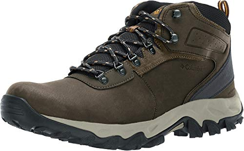 Columbia Men's Newton Ridge Plus II Waterproof Hiking Boot, Cordovan, Squash, 11.5 Regular US